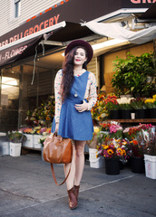 noelles favorite things,blogger,blouse,shoes,bag,hat,jewels,denim dress