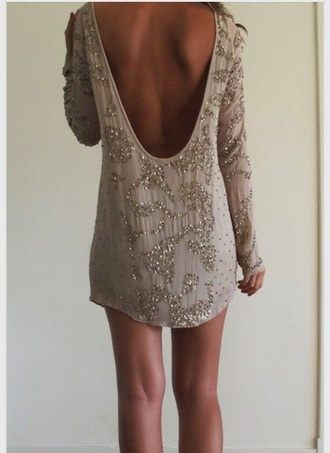 dress cute dress gold silver new year's eve silvester casual prom dress