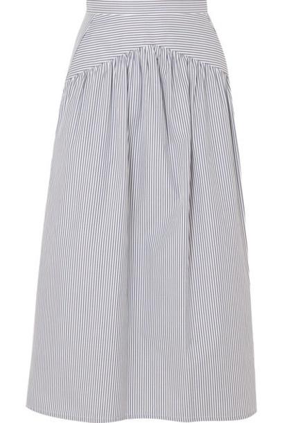 skirt midi skirt midi cotton blue