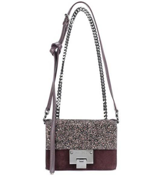 Jimmy Choo mini soft bag shoulder bag suede brown