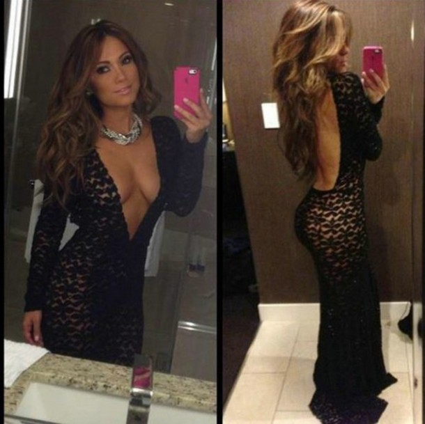 J lo lace dress bodycon