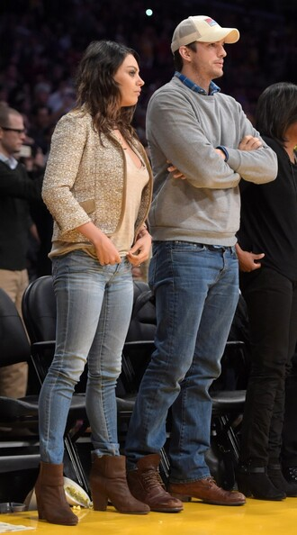 boots fall outfits jeans mila kunis shoes