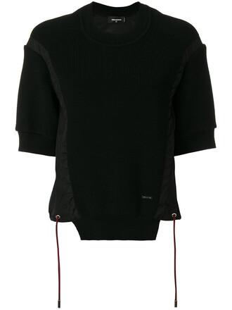 top women black knit