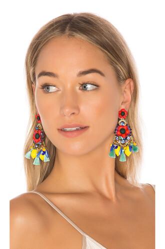 earrings red jewels