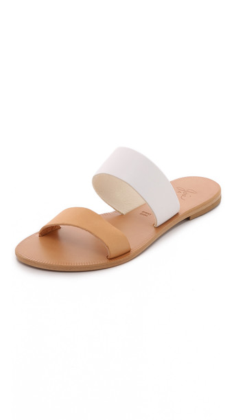 Joie A La Plage Sable Two Band Sandals - White/Natural