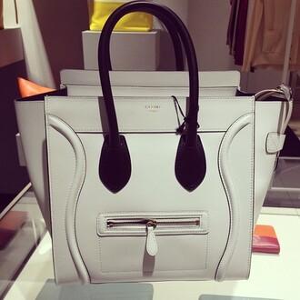 bag handbag celine white and black purse celinebag celineparis