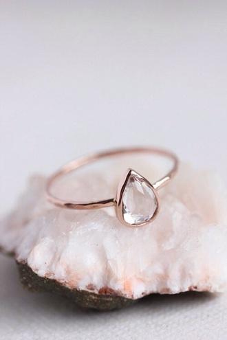 jewels ring teardrop ring minimalist jewelry