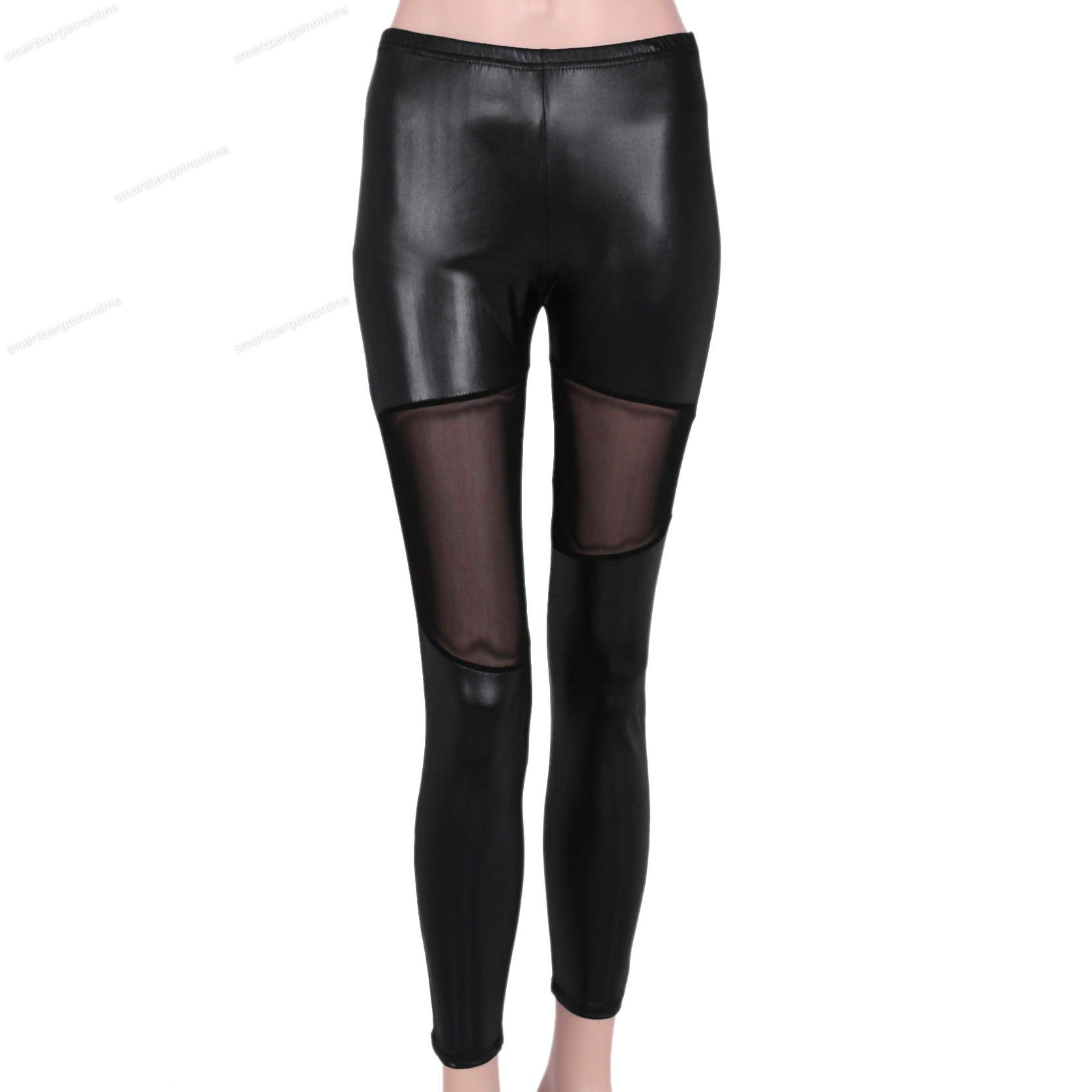 sexy damen leder strumpfhose leggings leggins hose. Black Bedroom Furniture Sets. Home Design Ideas
