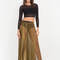 As you pleats sheer metallic maxi skirt gold - gojane.com