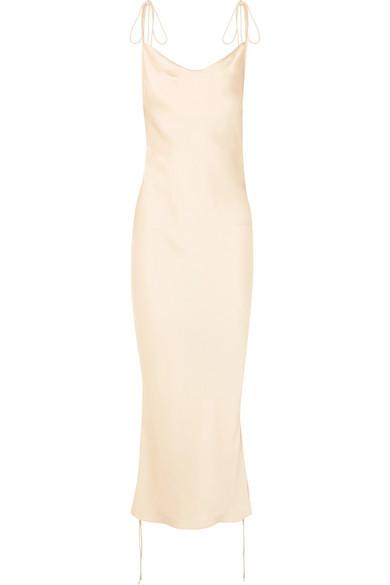 Orseund Iris - Ruched satin dress