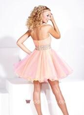 dress,pink,sparkle,rose,a-line,graduation,pretty,coral,shiny