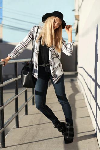bag shoes jeans t-shirt belt cheyenne meets chanel