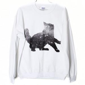 Galaxy Cat Sweatshirt (Select Size)