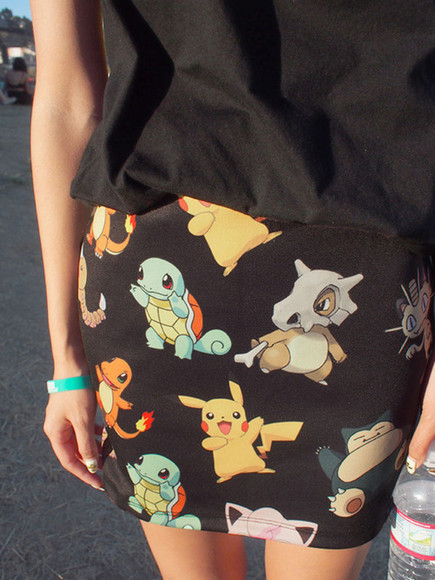 skirt pokemon black shirt cute