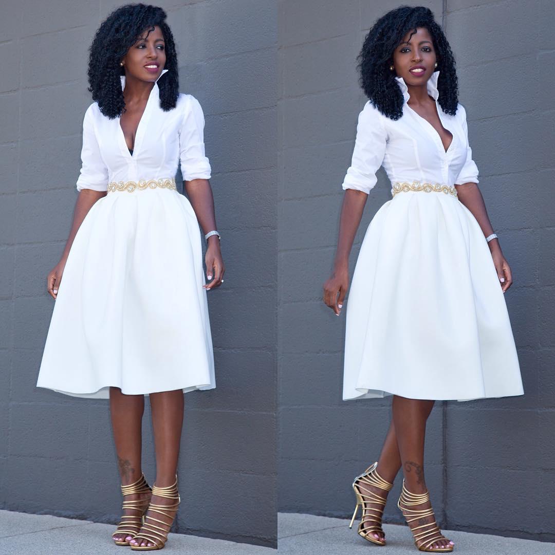 Pantry | Button Down Shirt Brocade Full Midi Skirt