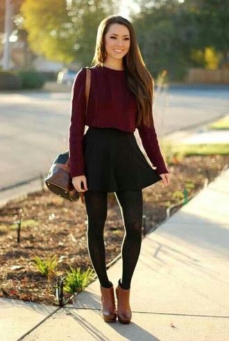 skirt black skater skirt leggings