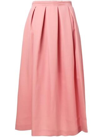 skirt pleated purple pink