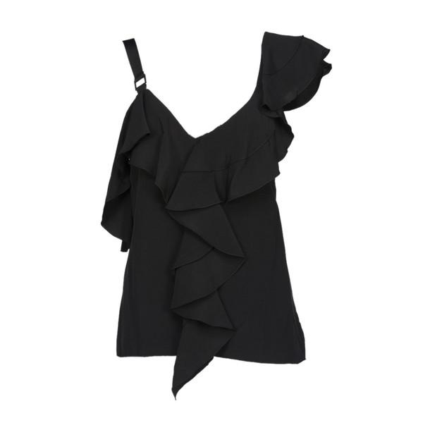 Proenza Schouler top ruffle black