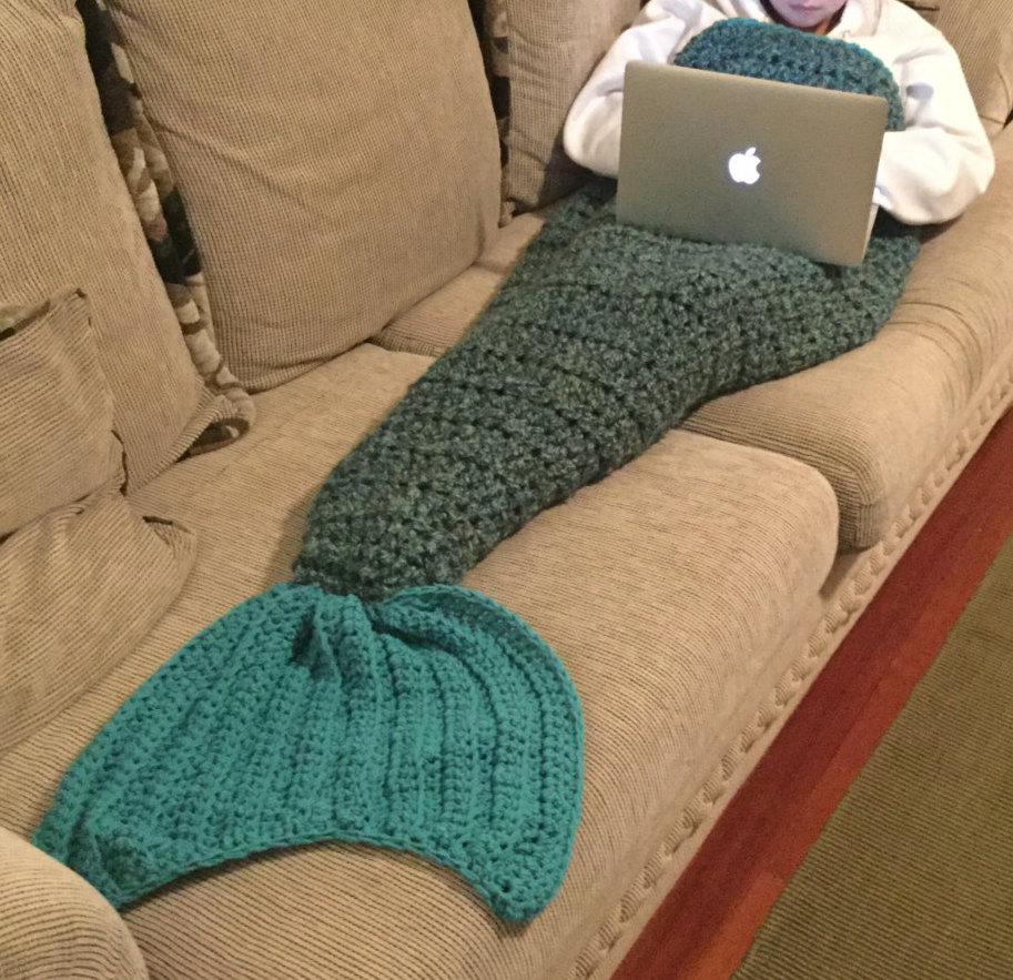 Mermaid Afghan Knitting Pattern Free : Mermaid tail blanket, Mermaid Cocoon, Mermaid afghan