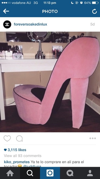 home accessory pink shoes high heels furniture cute fashion wow ht sex
