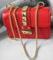 bag,Valentino,red bag,shoulder bag
