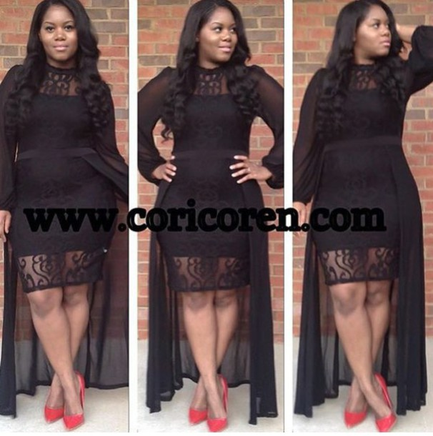 dress, cury fashion, plus size dress, black dress, black sheer dress ...