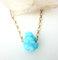 Aqua aura crystal druzy necklace gold // raw mineral necklace // simple gold necklace // aqua aura crystal