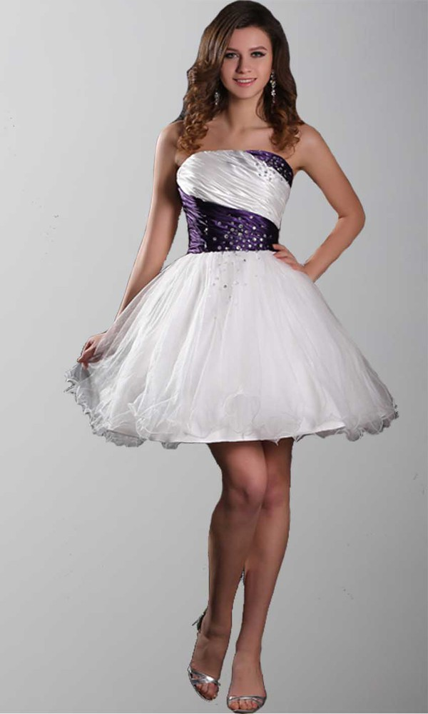 homecoming dress graduation dresses strapless prom gowns short prom dress corset dress organza dresses