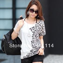 2014 nouvelle mode vêtements pour femmes de taille plus t shirt d'été hauts sexy vêtements tee chemisiers. t dans de sur Aliexpress.com