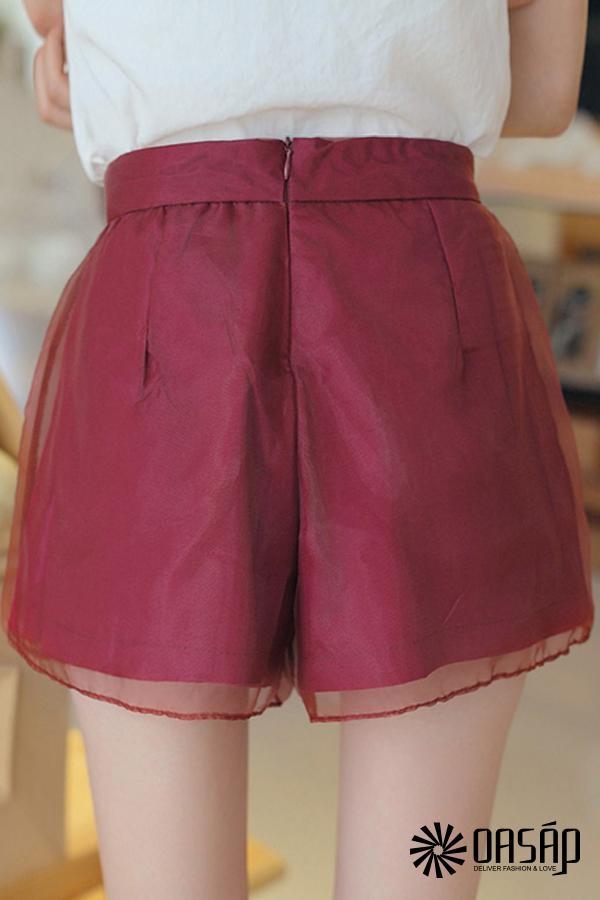 Solid Organza Shorts - OASAP.com