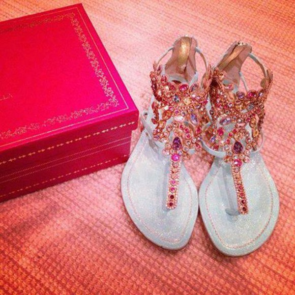 shoes flats flat sandals flat shoes sparkly shoes fancy pink sandals sparkels crystals cute perfection jewels sandals sparkles baby blue diamonds rhinestones sandals pink sandals sparkly sandals colorful pebbles stonez colorful sandals, aztec, tribal, summer