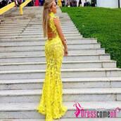 dress,lace,lace prom dress,lace prom gown,lace prom yellow,lace prom dresses,backless lace dress,backless top,backless prom dress,high necklace,high neck top,high neck,high neck bridal gown,mermaid prom dress,mermaid,mermaid lace party dress,mermaid lace dress,sexy party dresses,sexy dress,fashion dress,plus size,top,blouse,flowy