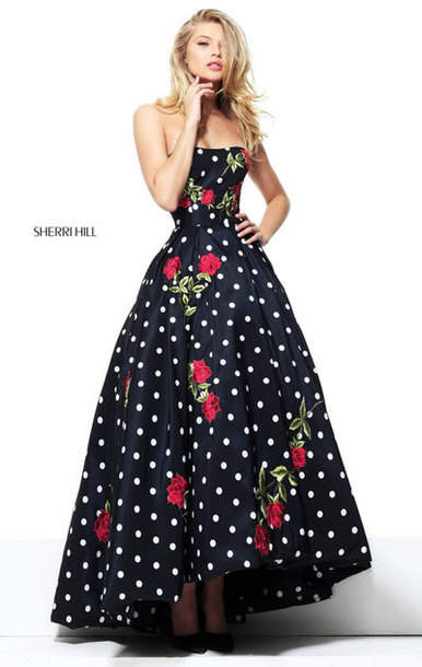 8ff4a9f9f5c dress 2017 evening dresses polka dot prom dresses
