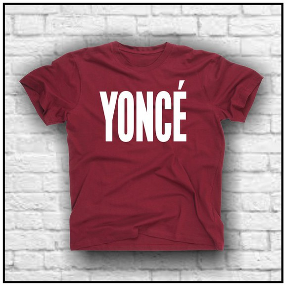 beyoncé Jay Z t shirt print t-shirt yonce beonce celebrity style burgundy quote on it trendy trending fashion