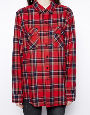 Pop Boutique | Pop Boutique Check Flannel Shirt at ASOS