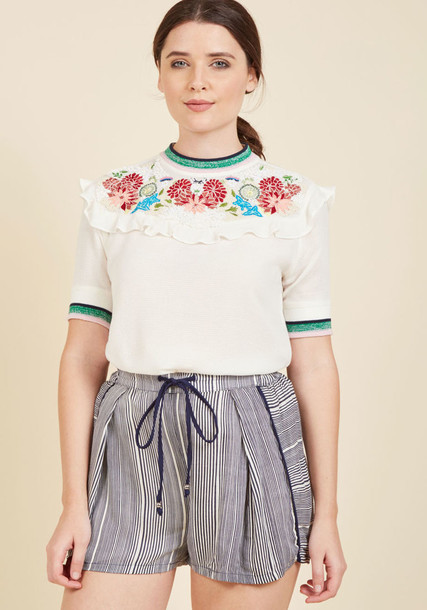 ONIRIQUE blouse white blouse vintage white top