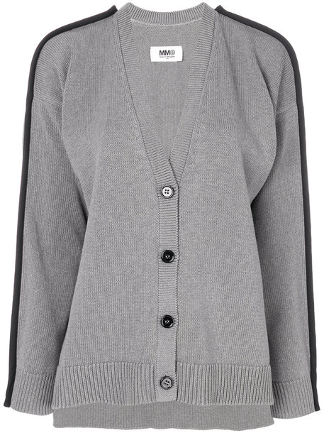 Mm6 Maison Margiela cardigan cardigan women cotton grey sweater