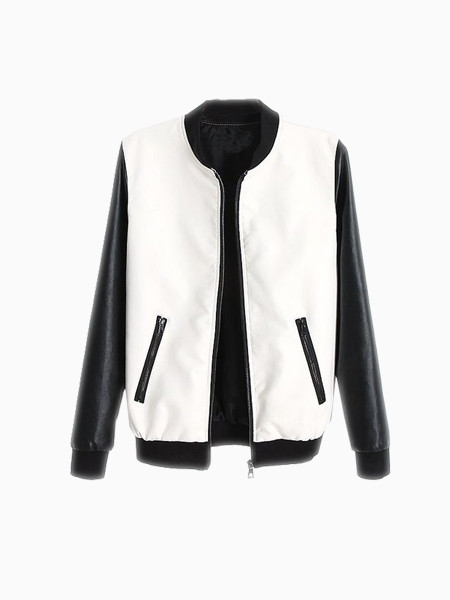 Monochrome Bomber Jacket - JacketIn
