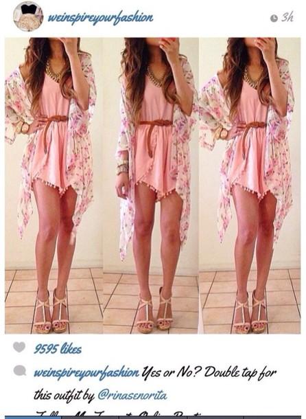 pink dress brown belt images