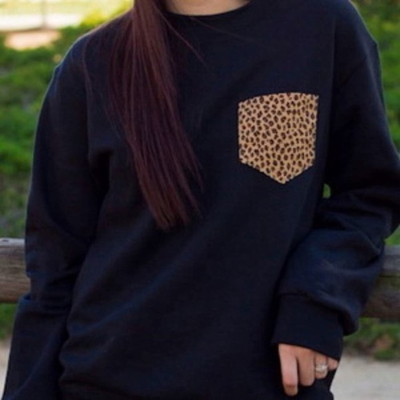 cheetah shirt longsleeve patterned pocket
