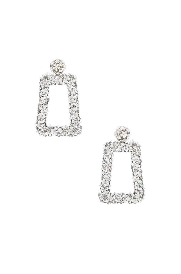 Sachin & Babi Fleur Dusk Earrings in metallic / silver