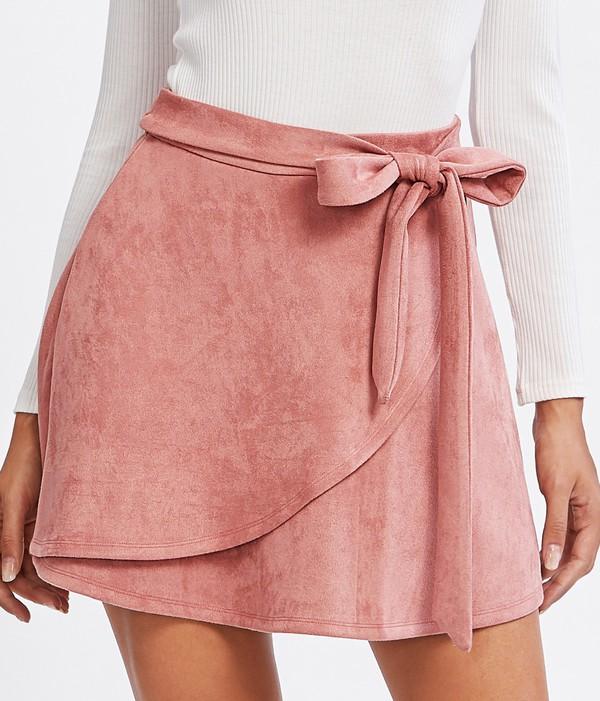 skirt girly pink mini mini skirt suede suede skirt