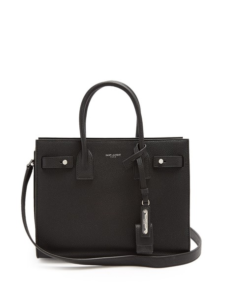 Saint Laurent baby leather black bag