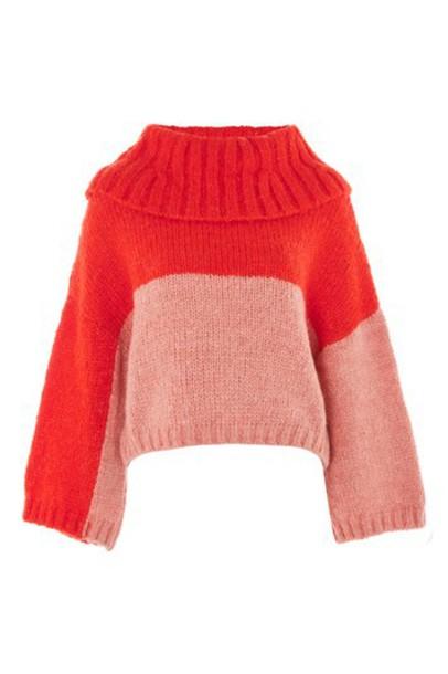 Topshop sweater pink