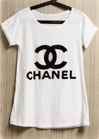 t-shirt glitter chanel t-shirt chanel