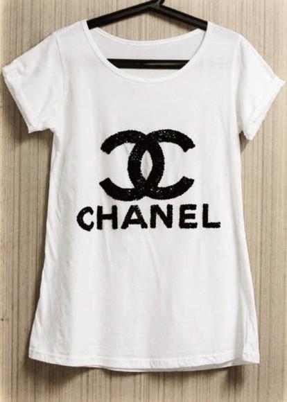 chanel t-shirt chanel t-shirt glitter
