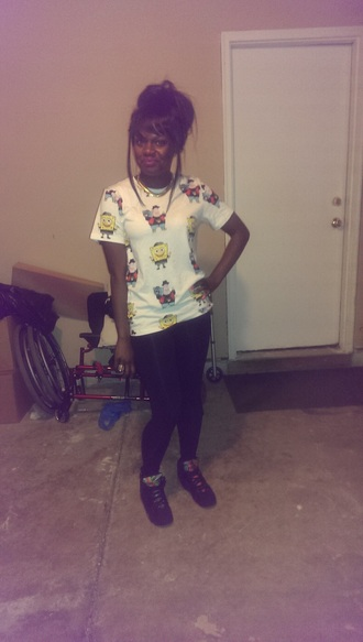 shirt jordans forever 21 dope leggings gold necklace cartoon retro jordans