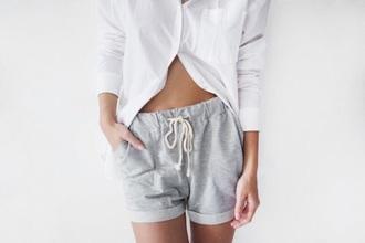 shorts cozy grey sweatpants