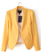 jacket,candy color,yellow,blazers online for women