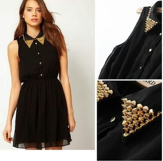 rivet black dress dress